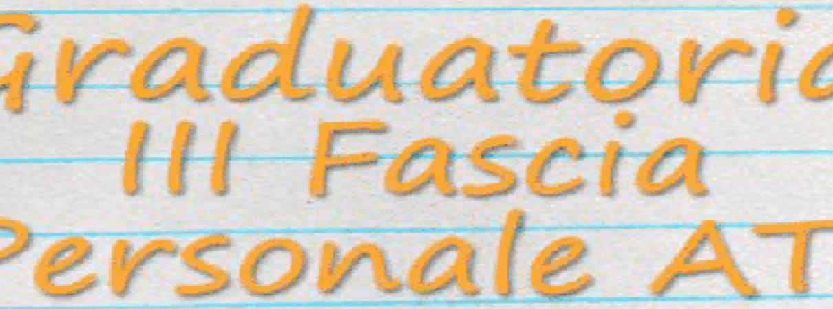 Scritta graduatoria di III fascia ATA