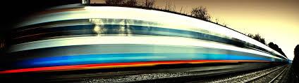 Foto treno in corsa