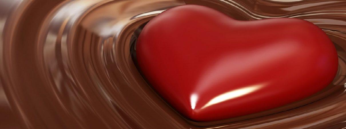 Cuore nel cioccolato
