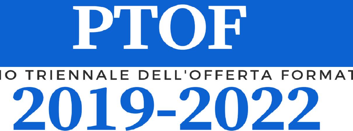 Scritta PTOF 2019-2022