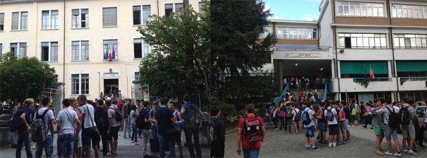 Istituto di Istruzione Superiore Aldo Moro. Ingressi degli edifici